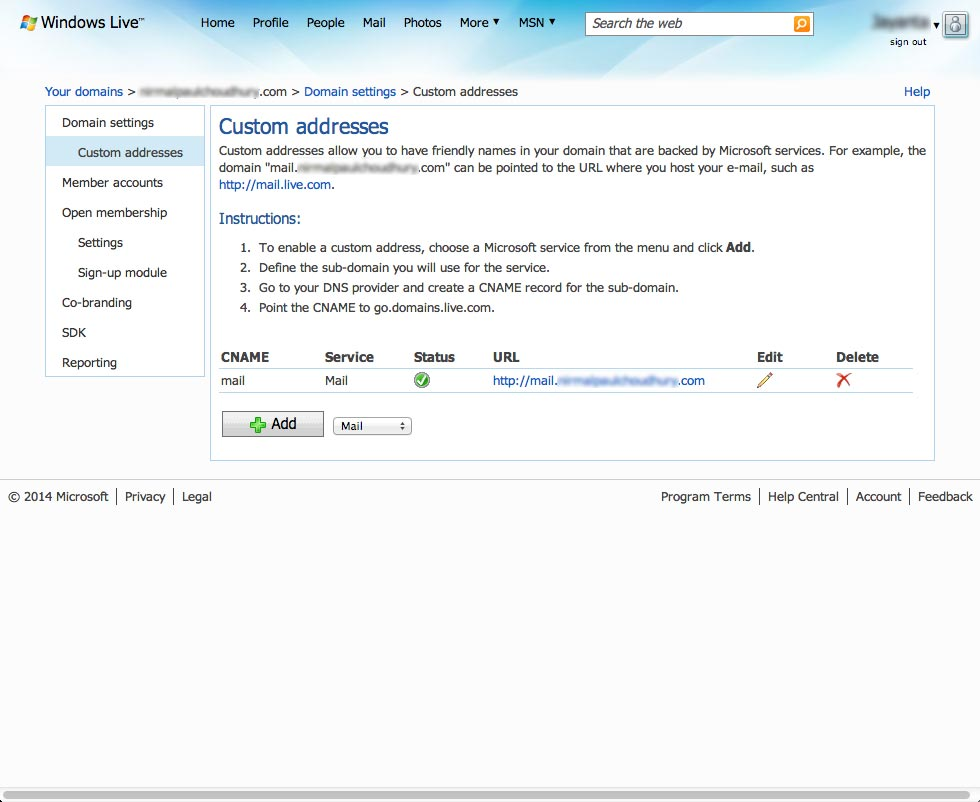 how to create an email account with custom domain name