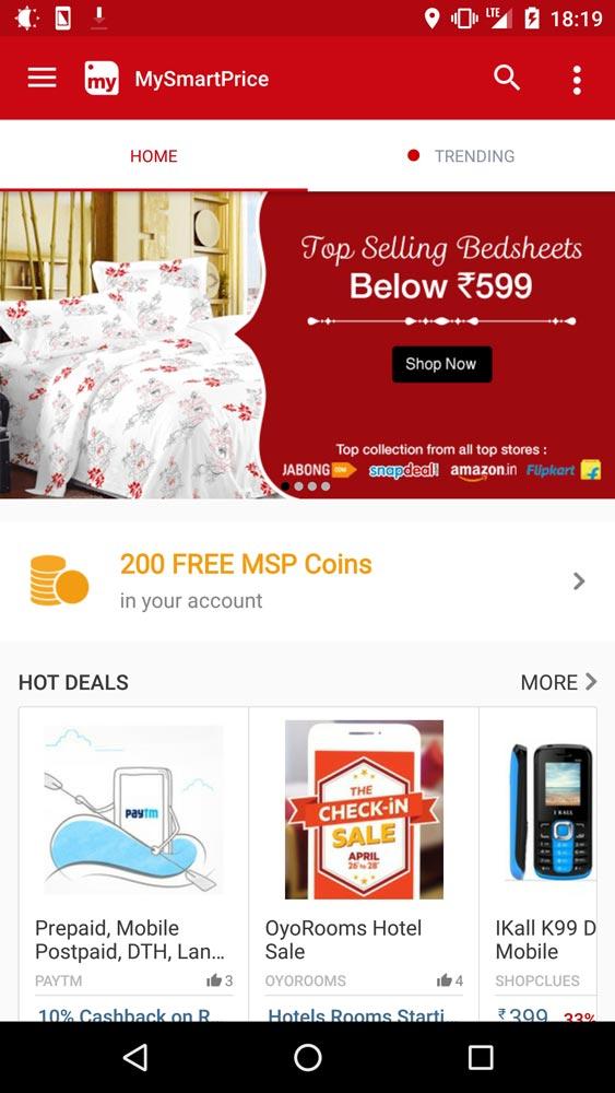 MySmartPrice Mobile App