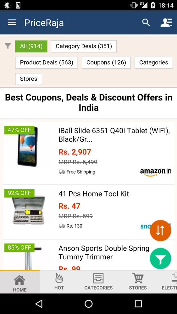 Price Raja Mobile App