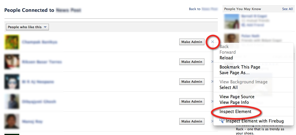 Remove Facebook User from Fan Page