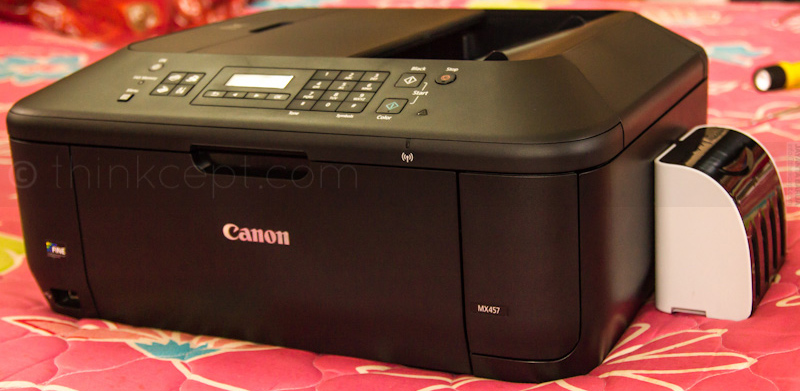Canon Pixma MX457 with CISS Ink Tank
