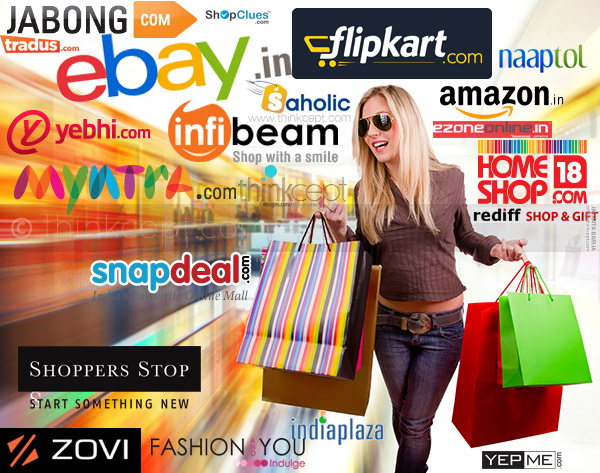 Top online shopping ecommerce websites in india think blog for Online shopping websites list