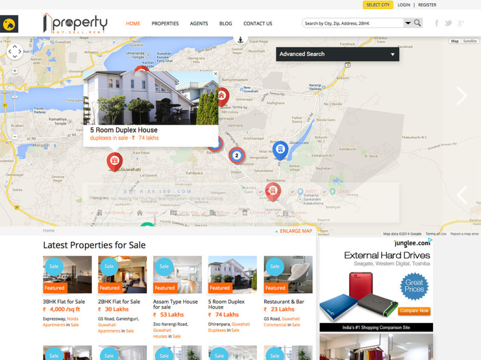 1Property Real Estate Website